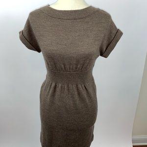 Ann Taylor Loft Brown Sweater Dress XS